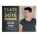 Chalkboard Shine Graduation Announcement or Invite Postcard