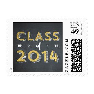 Chalkboard Shine Graduation Postage Postage