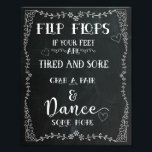 "Chalkboard Sign - Flip Flops - Wedding<br><div class=""desc"">Add your custom wording to this design by using the &quot;Edit this design template&quot; boxes on the right hand side of the item, or click the blue &quot;Customize it&quot; button to arrange the text, change the fonts and colours and to also add additional information or images to this design. ****For...</div>"