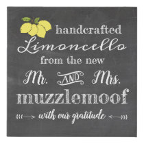 Chalkboard Sign For Limoncello Wedding  Favors |