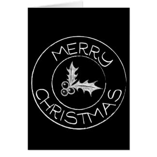 Chalkboard sign style Christmas card