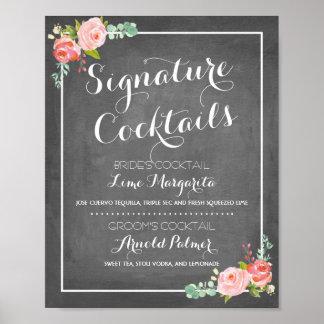 Chalkboard Signature Drink Menu | Wedding Decor Poster