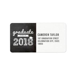 Chalkboard Sketch 2018 Graduation Address Labels