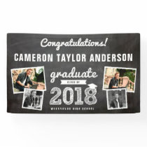 Chalkboard Sketch 2018 Photo Collage Grad Banner