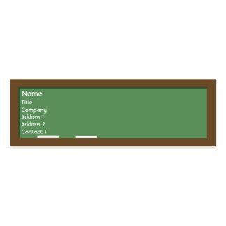 Chalkboard - Skinny Business Card Template