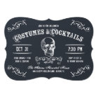 Chalkboard Skull Halloween Cocktail Party Card