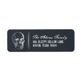 Chalkboard Skull Halloween Return Address Labels