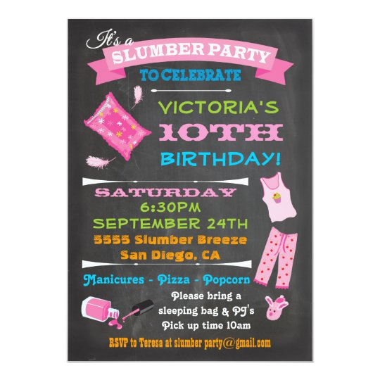 Slumber Party Invitations Announcements – Spa Slumber Party Invitations
