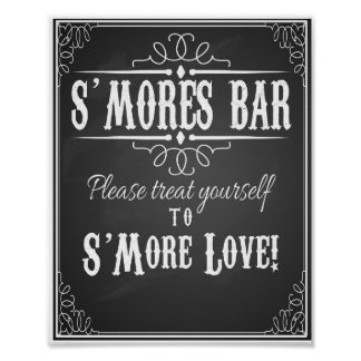 Chalkboard S'more Bar wedding party print