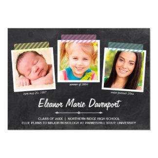 Chalkboard Snapshots   Photo Graduation Party 5x7 Paper Invitation Card