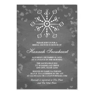 CHALKBOARD SNOWFLAKE BRIDAL SHOWER CARD