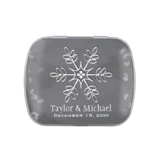 Chalkboard Snowflake Candy Tins