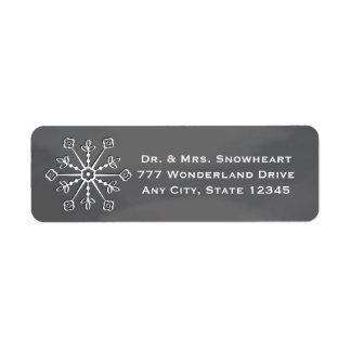 Chalkboard Snowflake Return Address Labels
