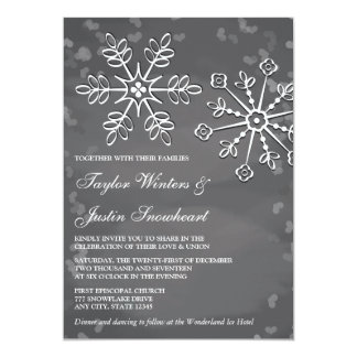 Chalkboard Snowflake Wedding Invitations
