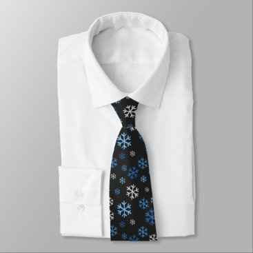 Professional Business Chalkboard Snowflakes Tie