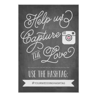 Chalkboard Social Media Hashtag | Wedding Decor
