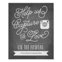 Chalkboard Social Media Hashtag | Wedding Decor Poster