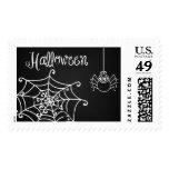 Chalkboard Spider Web Postage