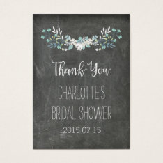 Chalkboard Spring Flowers Bridal Shower Favor Tags at Zazzle