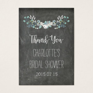Chalkboard Spring Flowers Bridal Shower Favor Tags