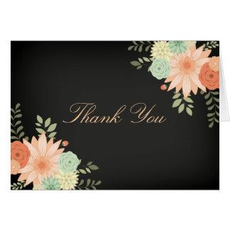 Chalkboard Spring Foliage Thank You Card