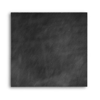 Chalkboard Square Personalized Envelopes