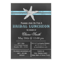 chalkboard starfish beach Bridal shower Invite