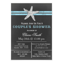 chalkboard starfish beach Couple's shower Invite