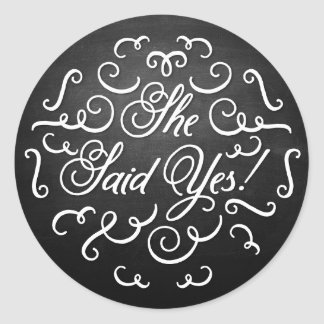 Chalkboard Stickers Engagement Announcement