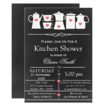chalkboard stock the kitchen Bridal shower Invite