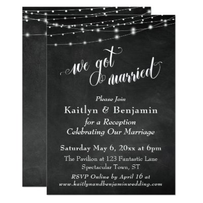 post wedding reception only photo template invite zazzle com