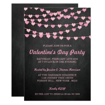 Invitation_Republic Chalkboard String Love Heart Valentine's Day Party Card