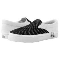 Chalkboard Stripe - vertical Slip-On Sneakers
