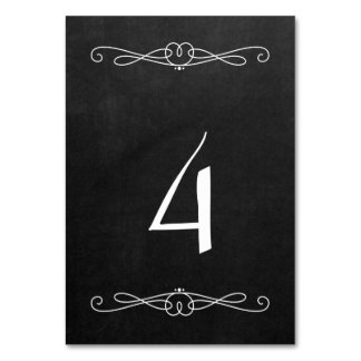 """Chalkboard Style 3.5"""" x 5"""" #4 Card"""