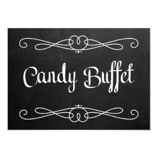 "Chalkboard Style ""Candy Buffet"" Wedding Sign Card"