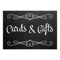"""Chalkboard Style """"Cards and gifts"""" Wedding Sign Invitation"""