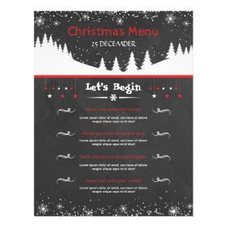 Chalkboard Style Christmas Menu Card