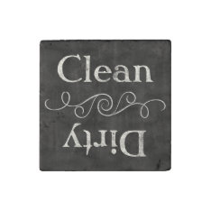 Chalkboard Style Clean/dirty Dishwasher Kitchen Stone Magnet at Zazzle