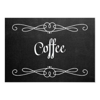 "Chalkboard Style ""Coffee"" Wedding Sign Card"