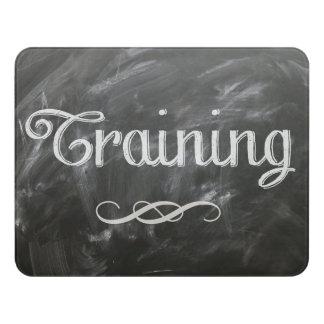 Chalkboard Style Corporate Training Room Door Sign