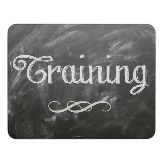 chalkboard style corporate training room door sign zazzle com