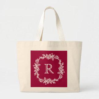 Chalkboard Style Custom Monogram Jumbo Tote Bag