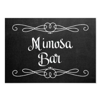 "Chalkboard Style ""Mimosa Bar"" Wedding Sign Card"