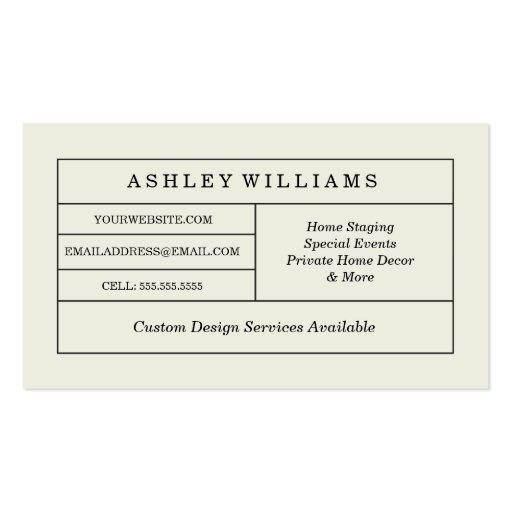 Chalkboard Style Monogram Business Cards (back side)