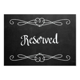 "Chalkboard Style ""Reserved"" Wedding Sign Card"