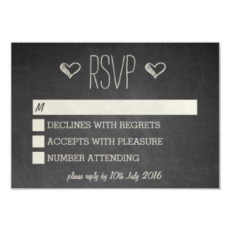 Chalkboard Style RSVP Card