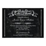 Chalkboard Style Rustic Swirl Bridal Shower Card