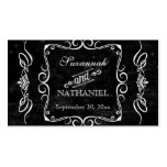 Chalkboard Style Rustic Swirl Couples Favor Tags Business Cards