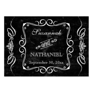Chalkboard Style Rustic Swirl Gift Registry Cards Large Business Cards (Pack Of 100)