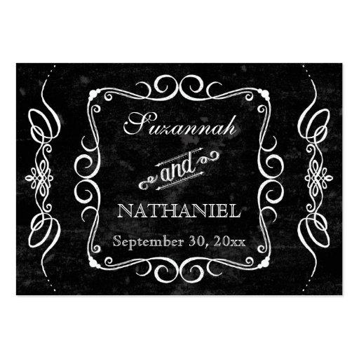 Chalkboard Style Rustic Swirl Gift Registry Cards Business Card